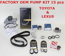 NEW TOYOTA / LEXUS COMPLETE OEM TIMING BELT KIT 1MZFE & 3MZFE ENGINES 15 PCS