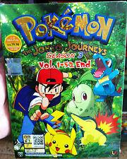 Pokemon (Season 3): The Johto Journeys (1 - 52 End) ~ All Region English Version