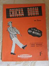 Vintage Original Partituras Chicka Boom, de Bob Merrill - 1953