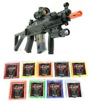 Double Eagle M82P 552 Commando Airsoft Gun Electric Rifle + Battery Charger BBs