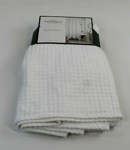 """THRESHOLD Shower Curtain NEW IN PACKAGE 72"""" x 72"""" Waffle Weave White"""