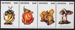 Z324 GUYANA collection of 4 exotic Mushrooms Mint NH