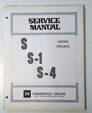 Original Hammond S, S-1 and S-4 Chord Organs Service Manual