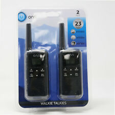 Onn Walkie Talkie Long Range Up To 23 Mile 22 Channel 2 Pack Rechargable NEW