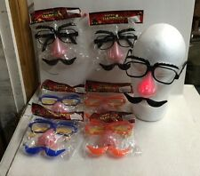 6 Light Up Disguise Nose With Mustache  Glasses Halloween Glasses Costume