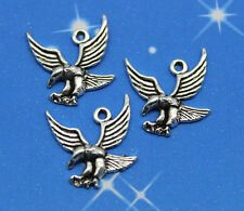 Free shipping 30 pcs retro style Lovely eagle alloy charms pendants 18*18mm