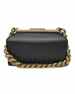 Stella McCartney Medium Synthetic Leather Structured Bag in Black 100% Authentic
