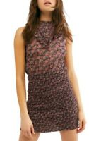 Free People Womens I'm Your Favorite Mini Dress Plum Purple Multicolor Size XS