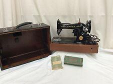 Vintage Singer 99K Hand Crank Sewing Machine in Original Case purchased 1950