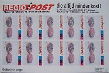 Stadspost Kollum Regio Post 07-1995 - Velletje Geboortezegels glanzend ongetand