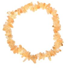 Premium CHARGED Citrine Crystal Chip Stretchy Bracelet Healing REIKI Energy!