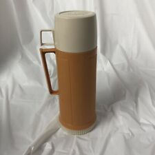 Vintage Glass Lined Thermos Yellow  22F Stopper 722 Cup 22A63 retro 80s