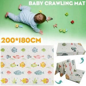 Baby Play Mat Extra Large Folding XPE Foam Reversible 2 Sided Large Crawling Mat