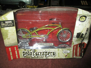 """Pedal Scrapers 5"""" Long Scale Freshly Squeezed New Boxed Custom Diecast Bicycle"""