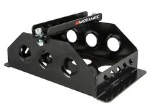 Motamec Alloy Race Battery Tray Red Top 30 Flat Mounting Box - Black