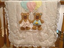 Vintage Century Originals Baby Crib Bedding 3 piece set-Baby Bears & Hearts- New