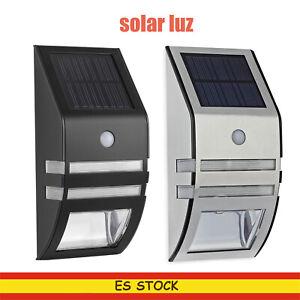 LUZ Solar Luz de Pared Impermeable Sensor de Movimiento Lámpara Exterior PIR