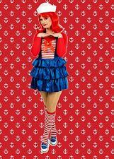 536✪ Ay Ay Sailor Matrosinnen Matrosen Kostüm Schürze
