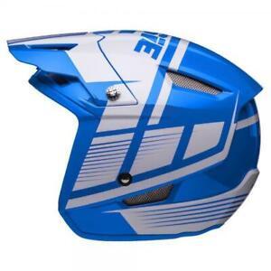 Jitsie HT1 Struktur Trials Helmet Blue/White