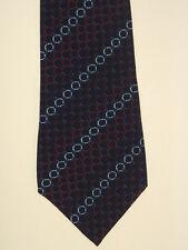 Ancho corbata de Lehner Switzerland suiza-seda, azul marino patrón de cadenas