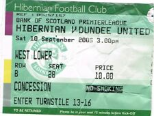 Ticket - Hibernian v Dundee United 10.09.05