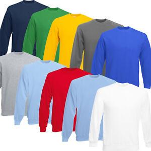 Fruit of the Loom Sweatshirt Adults Sweat Jumper Crew neck New Fleece Not Hoodie