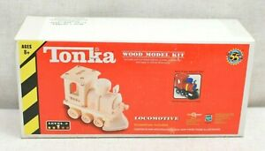 New Sealed Tonka 55th Anniversary Locomotive Wood Wooden Buildable Model Kit