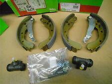 Opel Kadett E rear brake shoes + wheel cylinders + fitting kit Valeo 553130