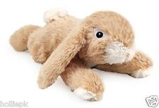 SMALL BITE SOFT PLUSH RABBIT WITH SQUEAK PUPPY SMALL BREED DOG TOY APPROX 23CM