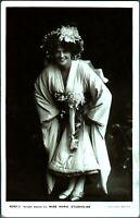 Miss Marie Studholme RPPC postcard antique actress portrait kimono robe