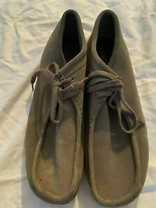 Clarks Originals Taupe Wallabee Boots Mocs Shoes Charles F. Stead US Men's 11.5