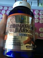 Cinnamon Bark, 500mg 200 Capsules, Rich in Vitamin K Iron 100 Percent Natural