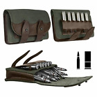 Quality Leather Rifle Cartridge Holder Pouch Belt Ammo 26 Shells. Made in Europe