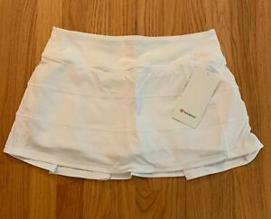NWT Lululemon Pace Rival Mid Rise Skirt size 8  White WHT