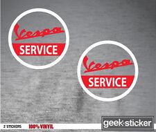 VESPA SERVICE  pegatina 100% vinilo  sticker Aufkleber autocollant  MOTO SPORT