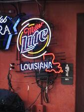 "Miller Lite Louisiana State Neon Light Sign 32""x24"" Beer Bar Decor Lamp"