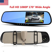 "2.8"" Full HD 1080P Video Recorder Dash Cam Rearview Mirror Car Camera DVR 170°"