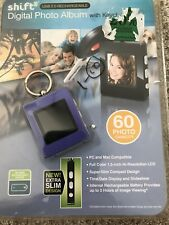 Shift 3 Digital Photo Album Keychain USB 2.0 Rechargeable 60 Photo Capacity new