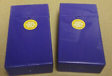 Eclipse Crayon Purple Push-N-Open Button 100s Size Cigarette Case - Lot Of 2