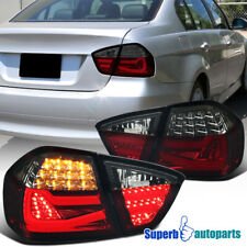 For 2005-2008 BMW 3 Series E90 4Dr Sedan Tube LED Red/Smoke Tail Brake Light
