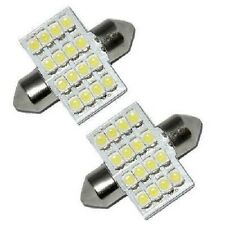 2 White 16 SMD 12V LED Car Number Plate Registration Dome Light Bulbs 31mm