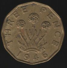 More details for 1946 george vi nickel-brass threepence key date | british coins | pennies2pounds