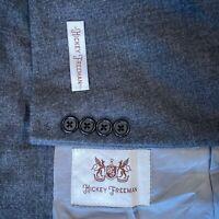 Hickey Freeman Milburn II 100% Wool Blazer Sport Coat Jacket Gray Men's 44 R