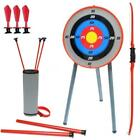 New Bow & Arrow Archery Set Target Stand Kids Toy Outdoor Garden Fun Game Gift