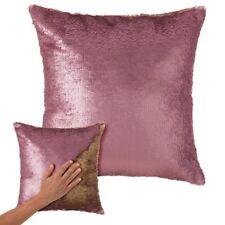 Cuscino Paillettes Federa Effetto Sirena Doppio Colore Rosa Gold 40x40cm Divano