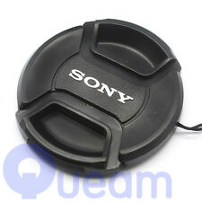 55mm Centre Pinch Front Lens Cap Cover For Sony Camera A58 A99 ILCA-77M2 Black