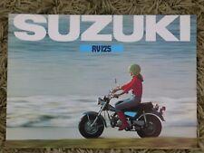 RV Suzuki Motorcycle Repair Manuals & Literature for sale | eBay