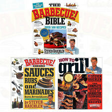 Steven Raichlen Collection 3 Books Set How to Grill , The Barbecue! Bible New