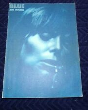 Rare Vintage BLUE Joni Mitchell Music Book Folk 1971 Piano Vocal Organ chords