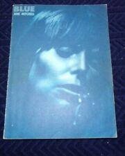 Rare Vintage Blue Joni Mitchell Music Book Folk 1971 Piano Vocal Organ chords